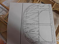 Name: DSCN2130.jpg Views: 90 Size: 146.8 KB Description: Major redesign is needed here.This looks nothing like the 3 view. Drawing over this with the scale shapes,the rest of the wing is acceptable.