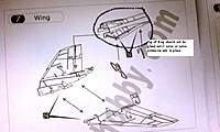 Name: IMAG0063.jpg Views: 432 Size: 99.4 KB Description: Tep 7 of the Manual says to glue in the Clamshell to the wing