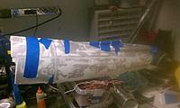 Name: IMAG1867.jpg Views: 153 Size: 166.3 KB Description: Glued the back of the Fuselage Together.