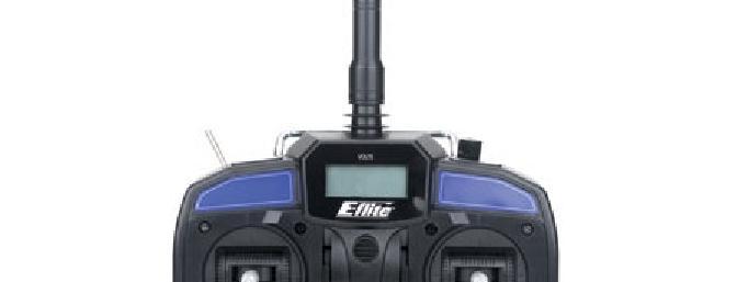 Here is the new E-flite LP5DSM transmitter with Spektrum technology inside.
