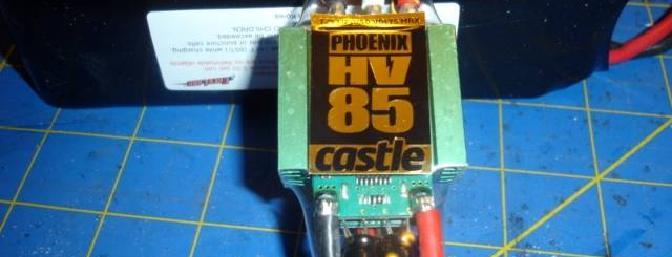The Castle Creations Phoenix 85 High Voltage ESC.