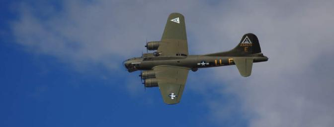 This gorgeous NEW scale B-17G was flown by Larry Wolfe at the festival.