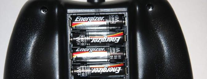 After I installed the 4 AA batteries I supplied.