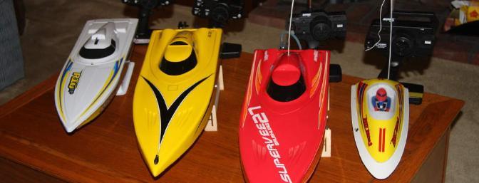 My AquaCraft fleet from left to right: Rio EP, SuperVee 27R, SuperVee 27, Reef Racer 2.
