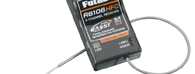 The Futaba R 6106 is nice and light yet a full range receiver.