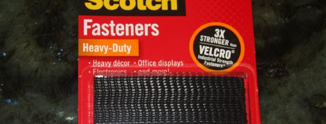 This Scotch heavy duty fastener is promoted as three times stronger then Velcro ... I believe it is!