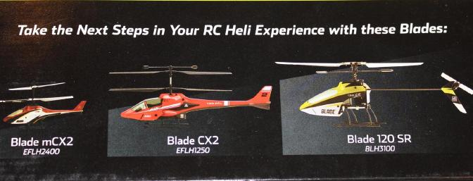 Per the side of the box Blade hopes the Scout is a launching pad for some of their other helicopters.