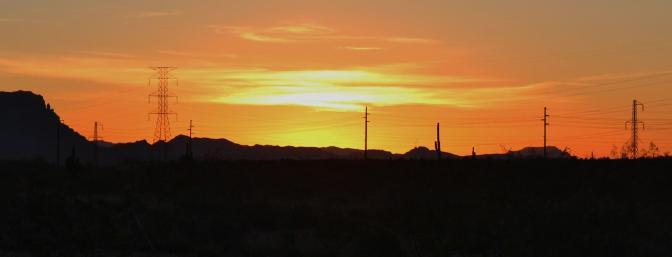 Sunrise at The Arizona Electric Festival in 2012