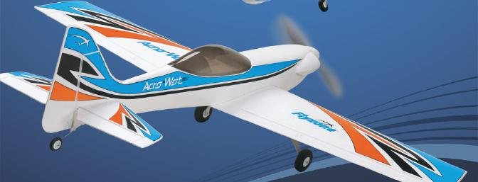Flyzone publicity shot gives two views of this very pretty plane.