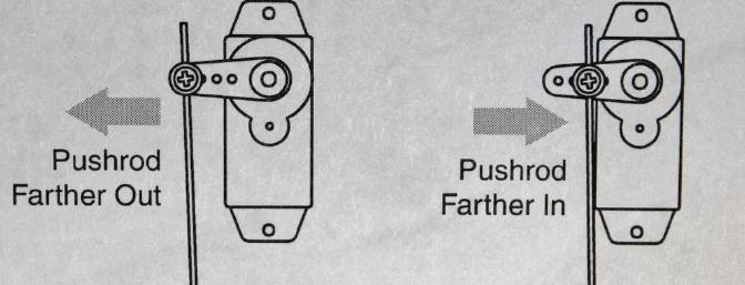 How to increase or decrease elevator throw mechanically as shown in the excellent manual.