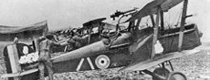 An S.E.5a with a Lewis machine gun on the top wing with a second machine gun on the fuselage..