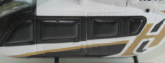 Molded door lines and rivets