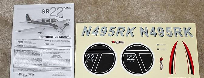 The instruction manual and the decal sheet