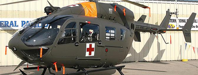 A US Army air ambulance
