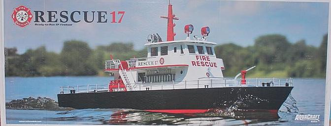 Decorative box cover shows Rescue 17 under way.