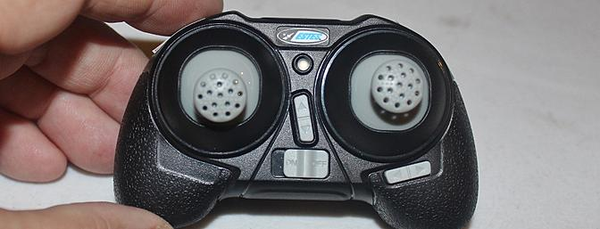 The transmitter used to control the Proto X comes complete with digital trims for the right stick.