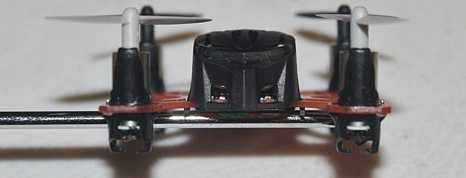 A view of the front of the Proto X being held up with my screwdriver for the picture.