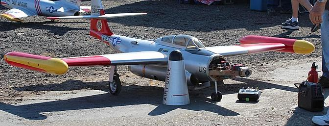 The F-89 in the pits.