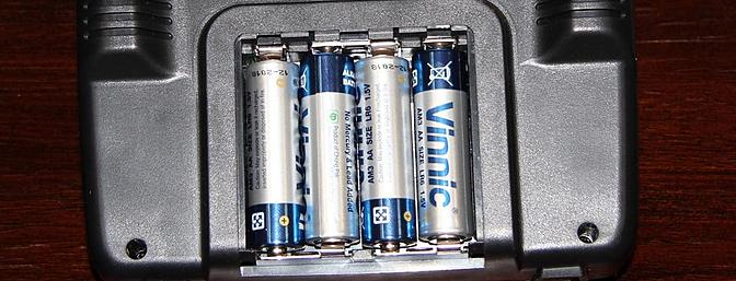 The four batteries for the transmitter are included