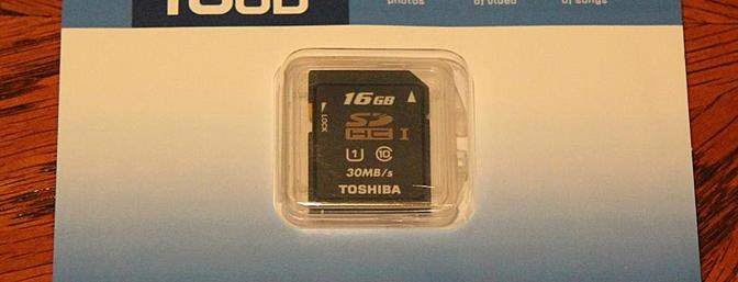 16GB SD Toshiba HC Card