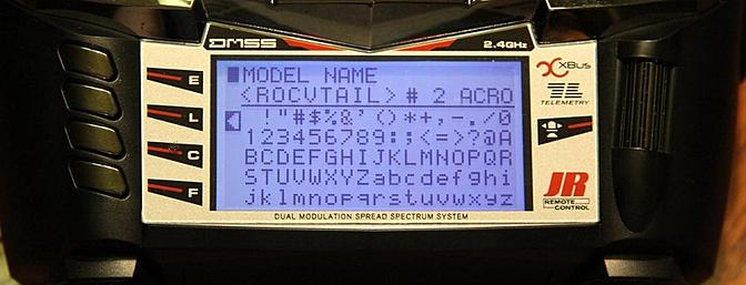 Programmed in the model's name.