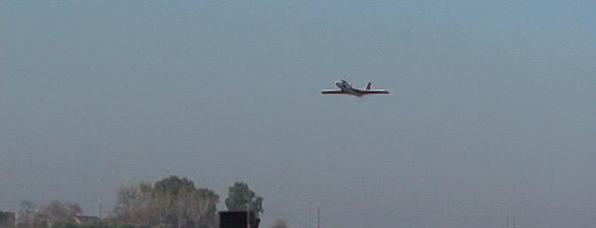 The Micro Radjet 420 coming in to land.