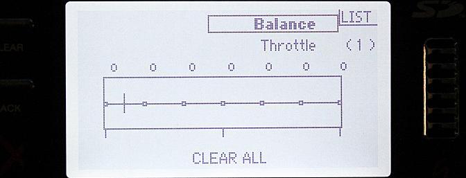 The servo balance screen