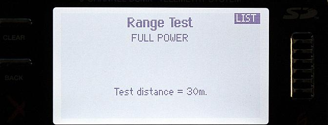 On this screen I can perform a range test by reducing the broadcast power per the procedure given above.