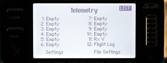 I can program what switches I use to view the Telemetry information and program them to hear the information as well.