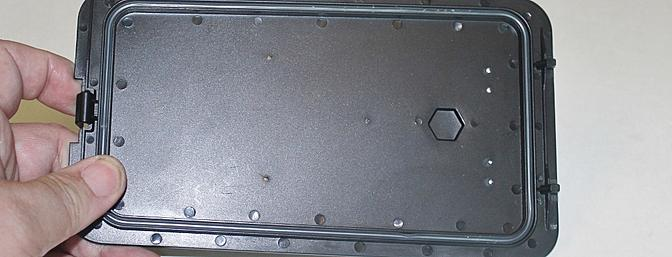 The Silicon Tube installed under the hatch cover.