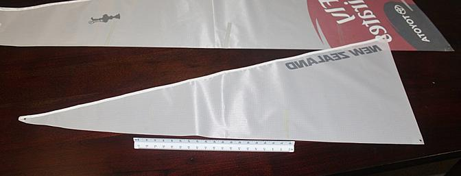 I used my ruler to attach the PVC strips to stiffen the sails.
