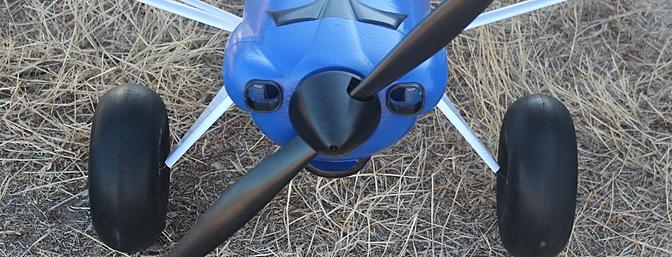 The spinner attaches with a screw to the propeller shaft.
