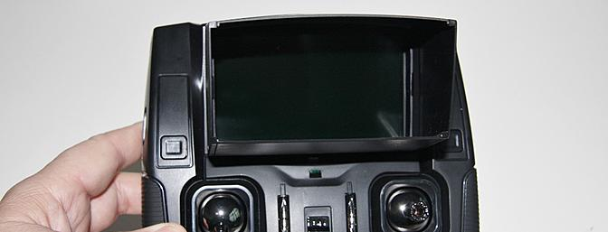 The screen in place and viewed from the front.