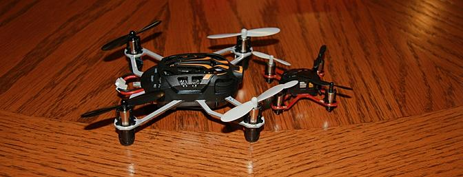 The Proto X FPV on the left and the original Proto X Nano on the right that I reviewed last year.