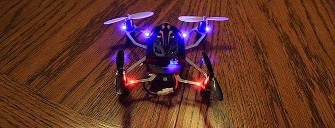 The Proto X FPV turned on and bound to the transmitter.