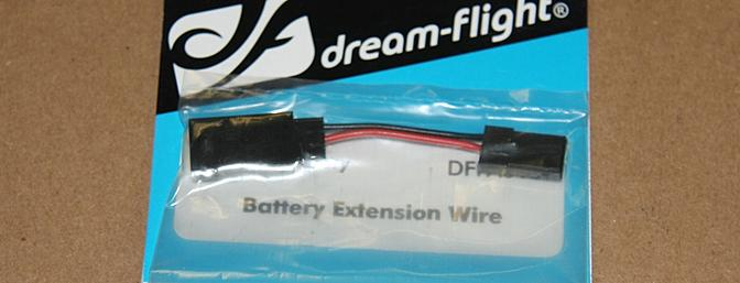 Short batter extension wire to connect the battery to the receiver