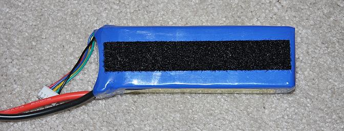 Here is the loop material I supplied on the bottom of the battery.