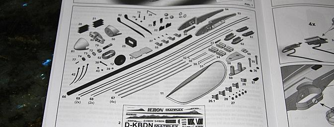 The small parts in the kit version as displayed in the instruction manual.