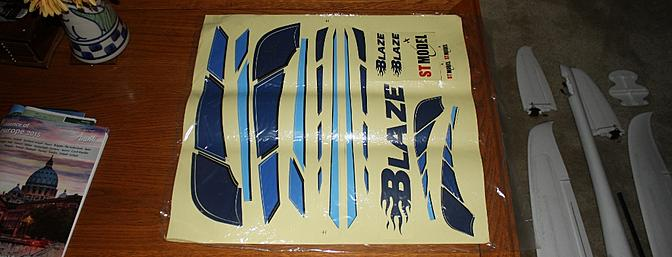 The decal sheet came in a bag and was draped over the other parts and arrived in very good condition.