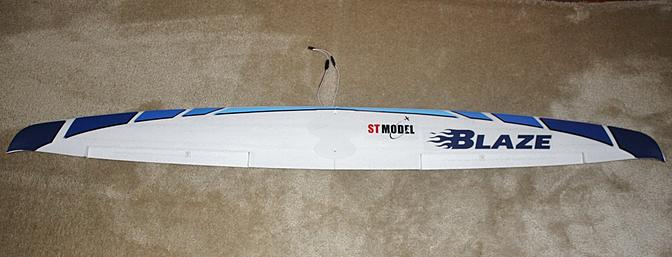 The one piece wing with all of the decals now installed on it.