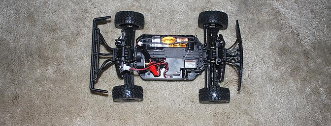 Top view of the truck chassis.