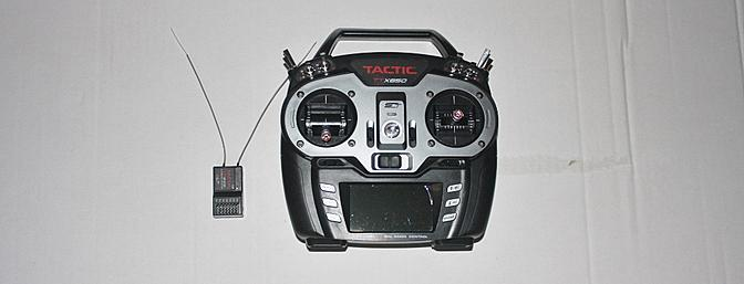 The Tactic 850 Transmitter and six channel receiver.