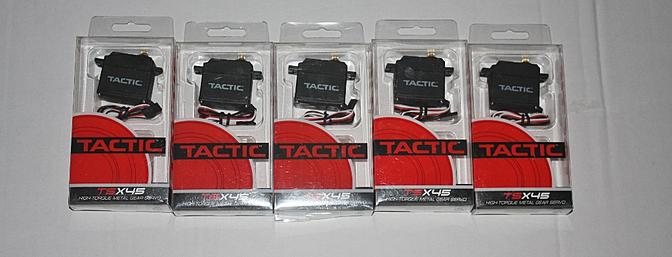 5 Tactic TSX45 High-Torque metal gear servos