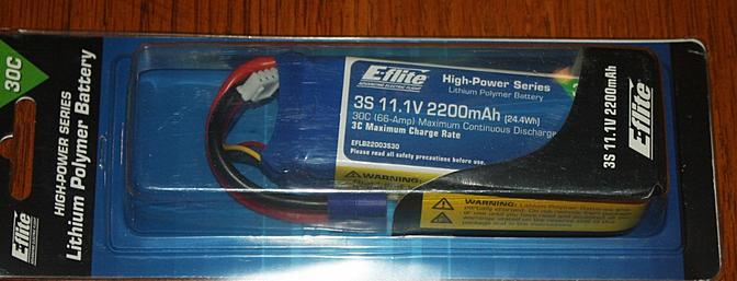 E-flite 2200mAh LiPo