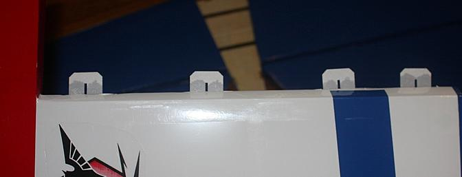 The hinges glued into the rudder.