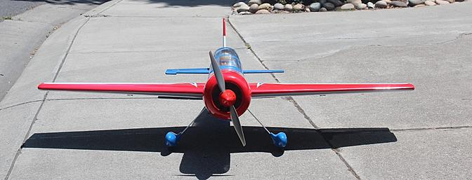 The propeller and spinner properly mounted.
