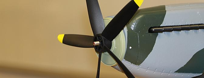 The five blade propeller slipped onto the propeller shaft next.