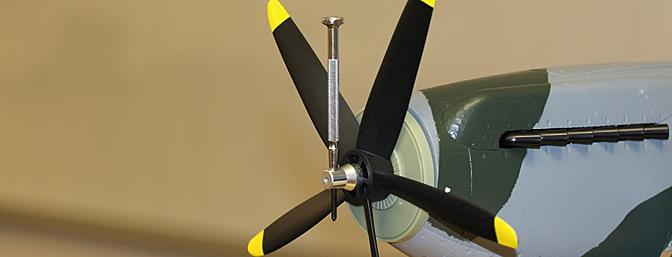 Here I was tightening the propeller nut in place to secure the propeller and back spinner plate into position.