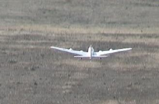 B-17 taking off