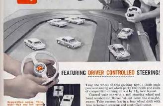 Slot cars in the 1960s, my equivalent to today's Micro Trucks